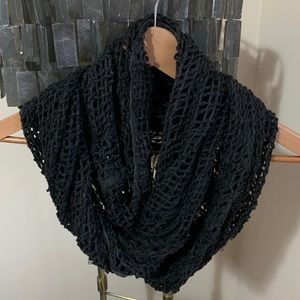 Urban outfitters distressed knit scarf